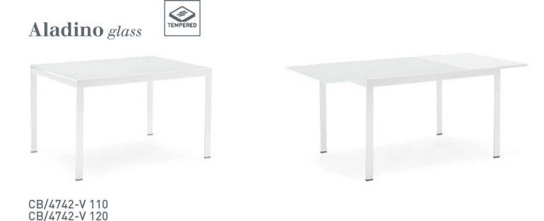 Jedálenský stôl Aladino Glass