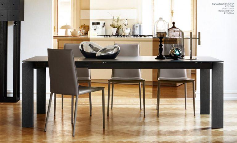 Jedálenský stôl Sigma Glass
